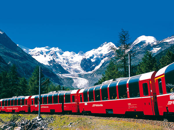 Bernina & Glacier Express - Schweizer Alpenpanorama Image
