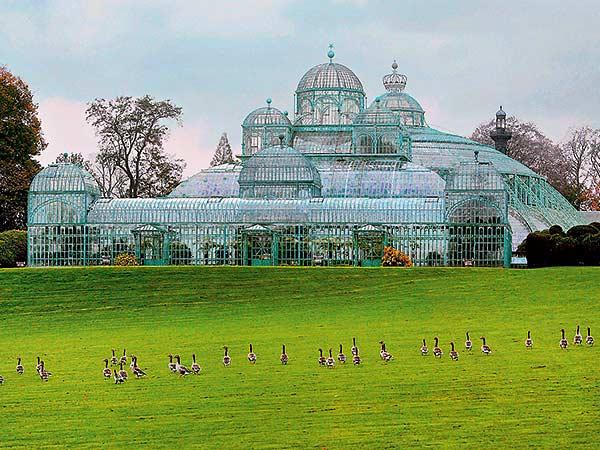 Die königlichen Gewächshäuser in Brüssel / Belgien Image