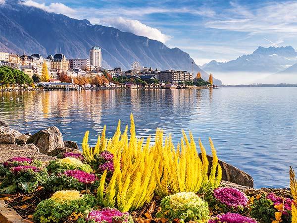 Genfer See und faszinierende Alpenbahnen um den Mont Blanc Image