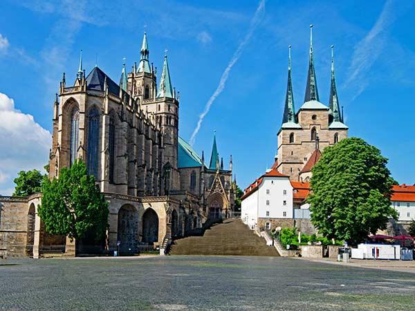 Erfurt mit Bundesgartenschau zur Rosenblüte Image